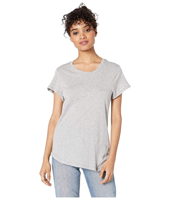 Splendid  Abbie Short Sleeve Modal Jersey Crew Tee (Heather Grey) Womens T Shirt
