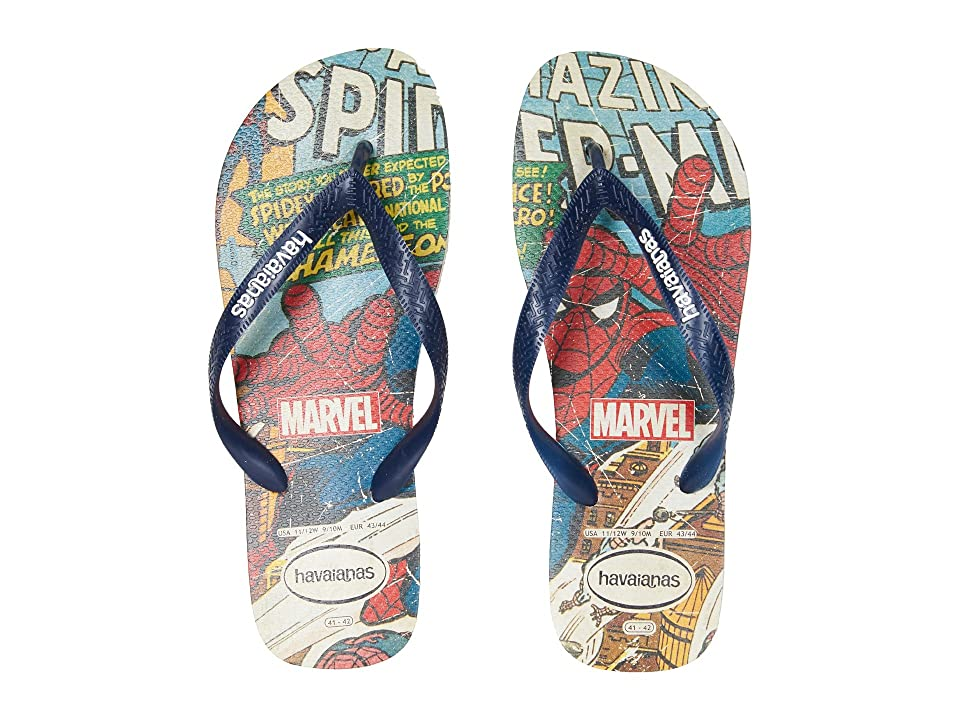 Havaianas Marvel Spiderman Flip-Flops (Beige/Navy Blue) Men