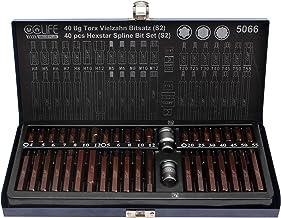 CCLIFE 40-częściowy zestaw kluczy nasadowych Torx XZN wewnętrzny wielozębowy zestaw kluczy nasadowych i bitów S2   T20-T55...