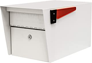 Mail Boss 7507 Curbside Mail Manager Locking Security Mailbox, White