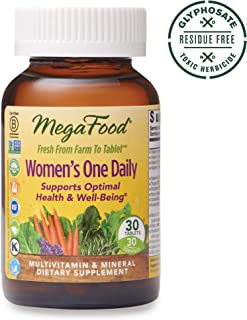 MegaFood, Women's One Daily, Daily Multivitamin and Mineral Dietary Supplement with Vitamins C, D, Folate and Iron, Non-GMO, Vegetarian, 30 Tablets (30 Servings) (FFP)