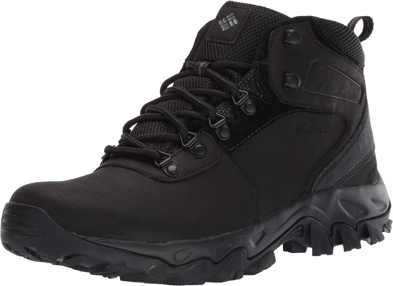 Columbia Men's Newton Ridge Plus II Waterproof Boot, Black Black