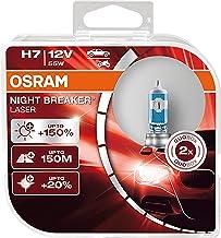 OSRAM NIGHT BREAKER LASER, H7, +150% meer helderheid , halogeen koplamp, Duo Box (2 lampen)