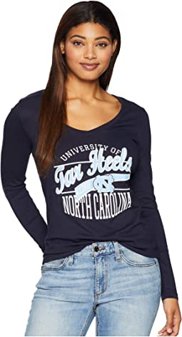 North Carolina Tar Heels Long-Sleeve V-Neck Tee