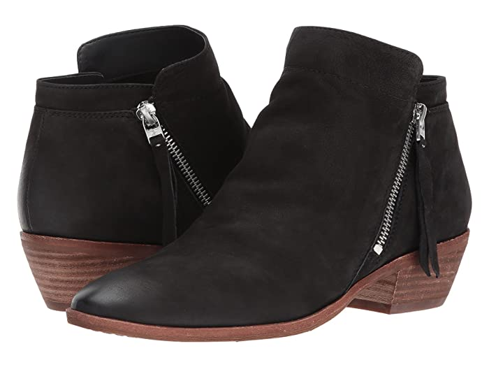 Sam Edelman Packer (Black Waxy Nubuck Leather) Women's Zip Boots