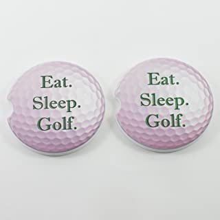 East Sleep Golf Car Coasters Sandstone Golf ball (Set of 2)