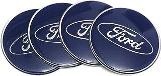 qiangqiangguan1 4 piezas W188 60 mm coche estilo accesorios emblema tapas de la rueda de la cubierta central ST para Ford Focus 2 Focus 3 Fiestuca FUSION ESCAPE EDGE