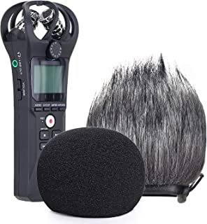 YOUSHARES Zoom H1n Recorder Foam & Furry Indoor/Outdoor Windscreen Muff, Pop Filter/Wind Cover Shield Fits Zoom H1n & H1 H...