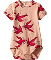 mini rodini - Swallows Short Sleeve Bodysuit (Infant)