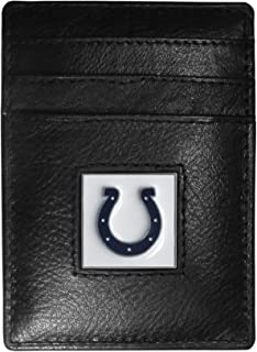Siskiyou Indianapolis Colts Leather Money Clip/Cardholder, Black