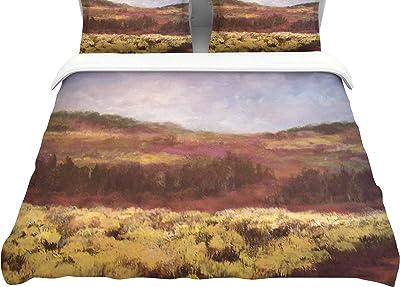 KESS InHouse Viviana Gonzalez Calling The Sun V  Purple Brown Twin Comforter 68 X 88