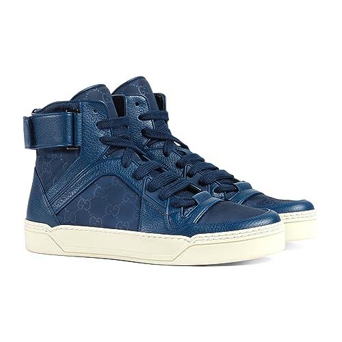111d01287b99ea Gucci Men s Nylon Guccissima High-Top Sneaker
