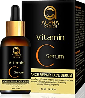 ALPHA CHOICE vitamin c serum for face, Anti aging, Reduce hyperpigmentation, Collagen boosting, Even skin tone, firming, b...
