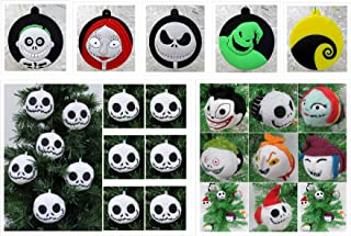 Christmas Ornament Nightmare Before Christmas Deluxe 20 Piece Random Set Featuring Jack Skellington, Sally and Friends