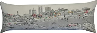 BEYOND CUSHIONS Nashville Tennessee Daytime Skyline King Size Embroidered Pillow