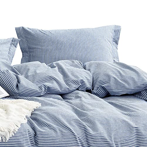 Image result for blue and white pin stripe bed spread