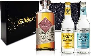 Gin Tonic Giftbox Geschenkset - Citadelle No Mistake Old Tom Gin 50cl 40% Vol  2x Fever Tree Tonic Water Mix je 200ml inkl. Pfand MEHRWEG - Enthält Sulfite