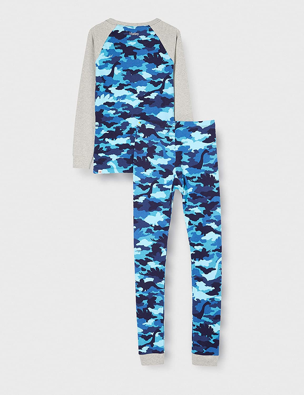 Hatley Boys' Organic Cotton Long Sleeve Printed Pajama Sets