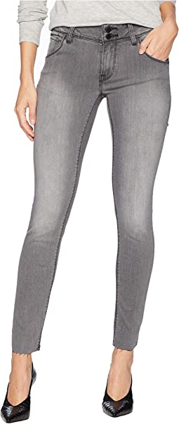 Collin Mid-Rise Skinny Ankle Raw Hem in Trooper Grey