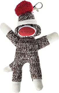 Pennington Bear Company The Original Sock Monkey Key Chain, Hand-Knit, Plush Material, 7