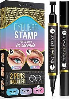 Eyeliner Stamp – Winged Eyeliner in Seconds – Easy to Use, Waterproof & Smudge Proof, Long Lasting Liquid Black Eye Liner ...
