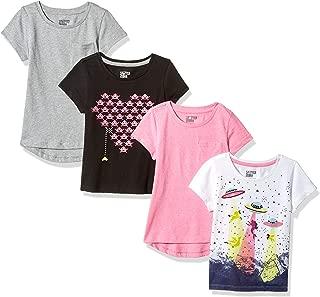 Girls' Toddler & Kids 4-Pack Short-Sleeve T-Shirts