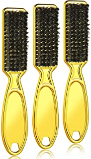 3 Pieces Clipper Blade Cleaning brush Hair Clipper Cleaning Nylon Brush Nail Brush Trimmer Barber Cleaning Brush Tool (Gold)
