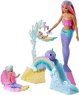 Barbie Dreamtopia Muñeca Sirena con bebés y accesorios (Mattel FXT25)