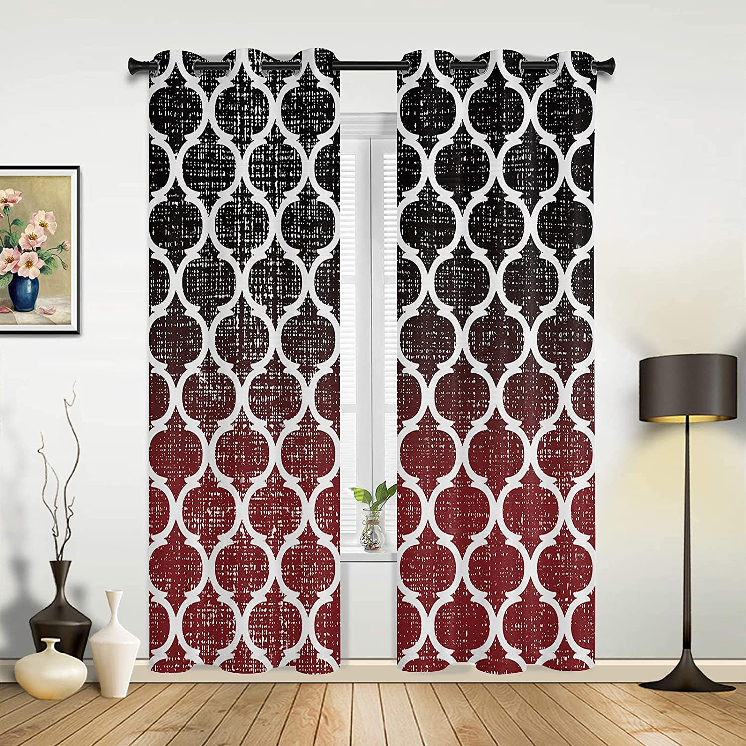 Window Sheer Curtains for Bedroom Room B Oklahoma City Mall Living Moroccan Vintage Max 89% OFF