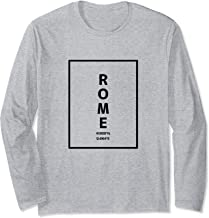 Rome Italy City Coordinates Minimalist Long Sleeve T-Shirt