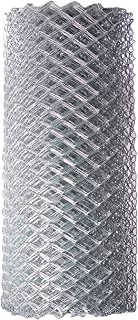 ALEKO CLF115G4X50 Chain Link Mesh Roll for DIY Fence System Galvanized Steel for Home Business Agriculture 4 x 50 Feet Silver