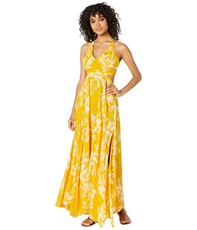 Free People Lille Printed Maxi (Yellow) Women