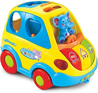 Clever Coupe – Car Shape Sorter with Music, Lights and Movement – 5 Animal Shape Blocks, 2 Sound Options, 2 Play Modes – A...
