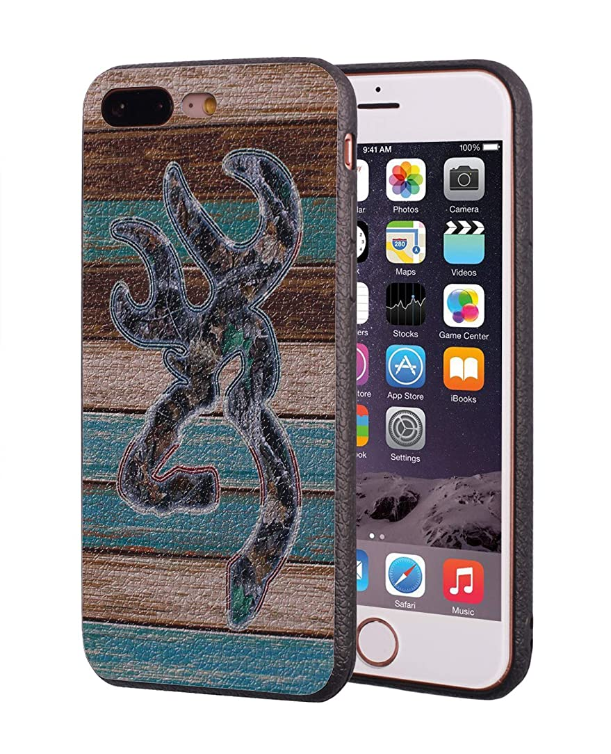 iPhone 7 Plus Case,iPhone 8 Plus Case,Vintage Rustic Wood Browning Camo Design Slim Anti-Scratch Leather Grain Rubber Protective Case for Apple iPhone 7 Plus/iPhone 8 Plus 5.5 inch jpq48533795