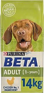 BETA Adult Dry Dog Food Chicken 14kg, transparent