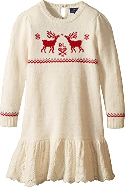 Reindeer Sweater Dress (Little Kids)