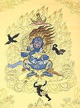 Tibetan Buddhist Mahakala in Cremation Ground - Tibetan Thangka Painting