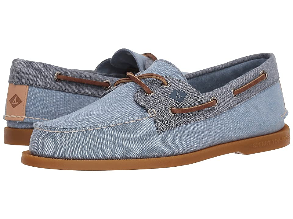 Sperry A/O 2-Eye Chambray (Blue/Navy) Men