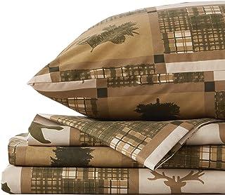 Great Bay Home 4-Piece Lodge Printed Ultra-Soft Microfiber Sheet Set. Beautiful Patterns..