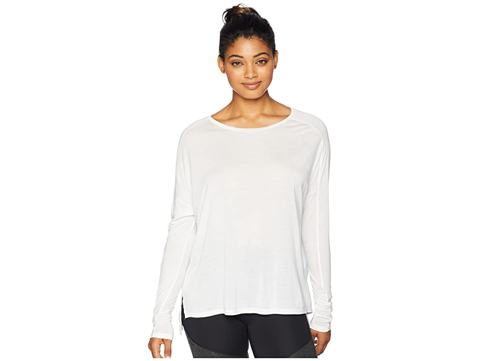 Reebok Training Supply Long Sleeve Tee (White) Women
