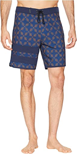 "Phantom Block Party Drum Circle 18"" Stretch Boardshorts"