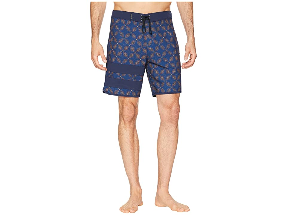 Hurley Phantom Block Party Drum Circle 18 Stretch Boardshorts (Blue Force) Men