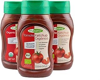 FRUSANO Set of 3 Organic Ketchup 10.1 fl oz | USDA Organic Real Flavor Taste Gluten & Lactose Free | Low FODMAP No Sugar o...