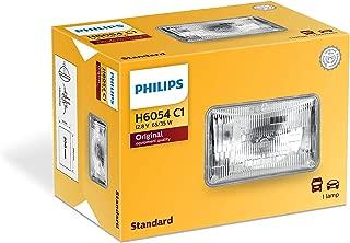 PHILIPS H6054C1 Standard Halogen Sealed Beam headlamp, 1 Pack