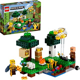 LEGO Minecraft The Bee Farm 21165 Minecraft Building Action Action with a Beekeeper، Plus Cool Bee and Sheep Figures، New 2021 (238 Pieces)