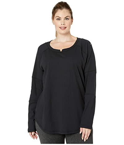 Columbia Plus Size Fall Pinetm Washed Crew (Black) Women