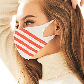 MASK Protective Fashion Air Mask | Washable and Reusable | Double Layered Face Mask | Sport White X Red Stripes
