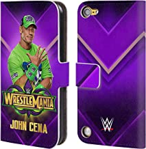 Official WWE John Cena Wrestlemania 34 Superstars Leather Book Wallet Case Cover Compatible for iPod Touch 5G 5th Gen