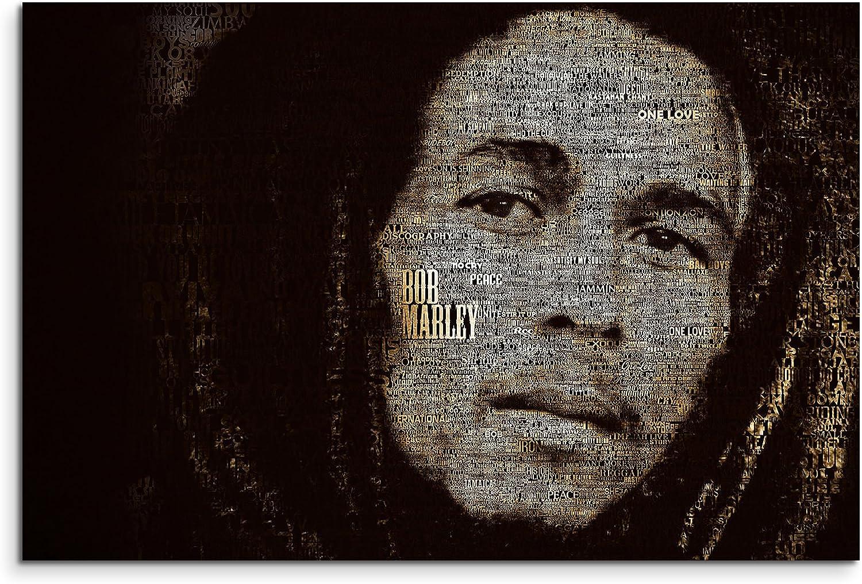 Bob Marley Art Wandbild 120x80cm XXL Bilder und Kunstdrucke auf Leinwand B06X92WK44
