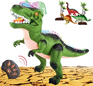 MAMABOO Dinosaurs Toy Remote Control for Kids Electronic Pets with LED Light Up Walking Roaring Realistic Dinosaur Toys wi...